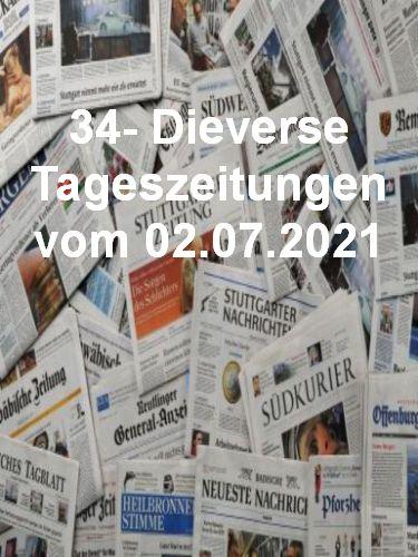 Cover: 34- Diverse Tageszeitungen vom 02  Juli 2021