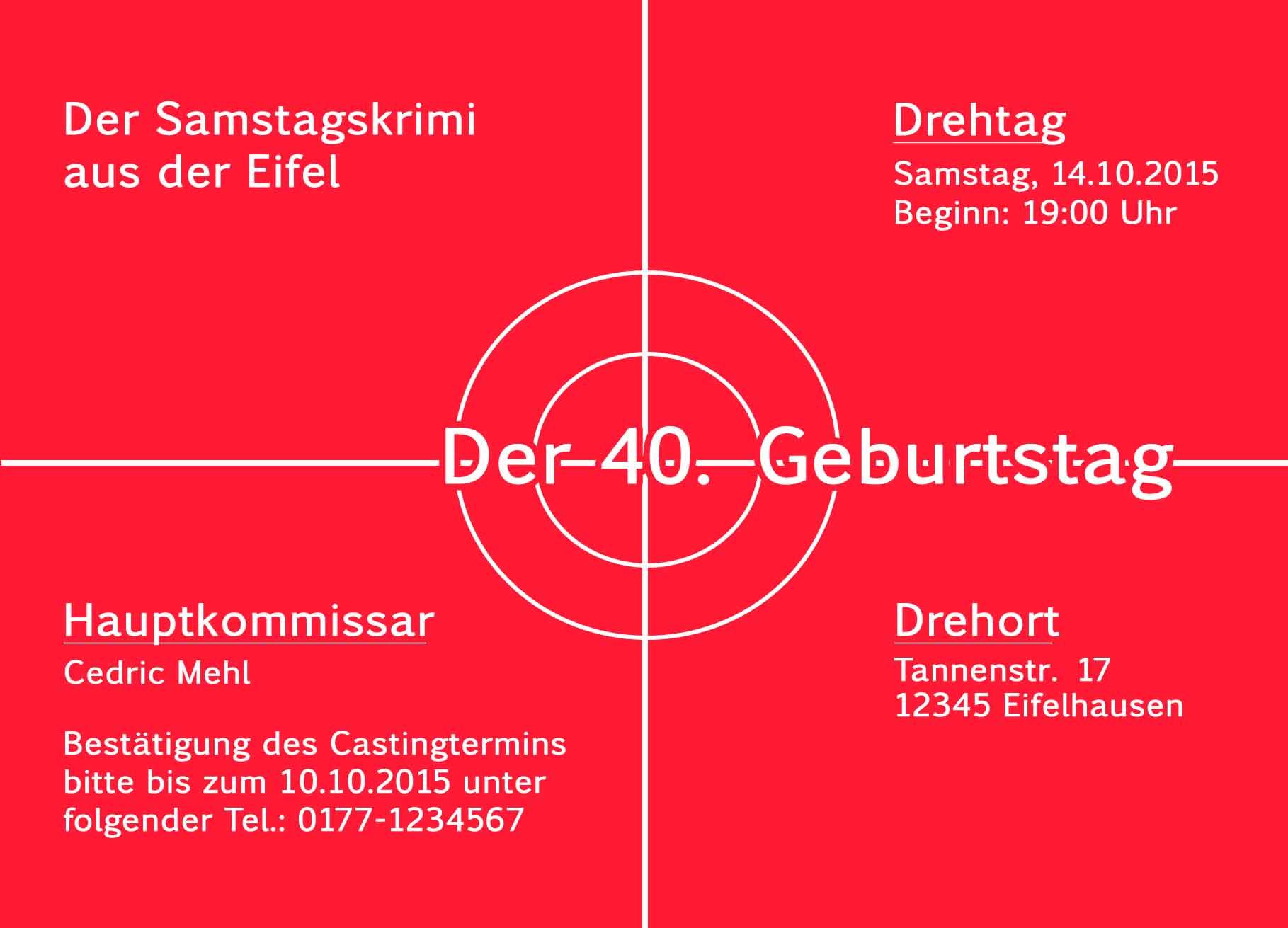 Einladungskarten Für Krimifans