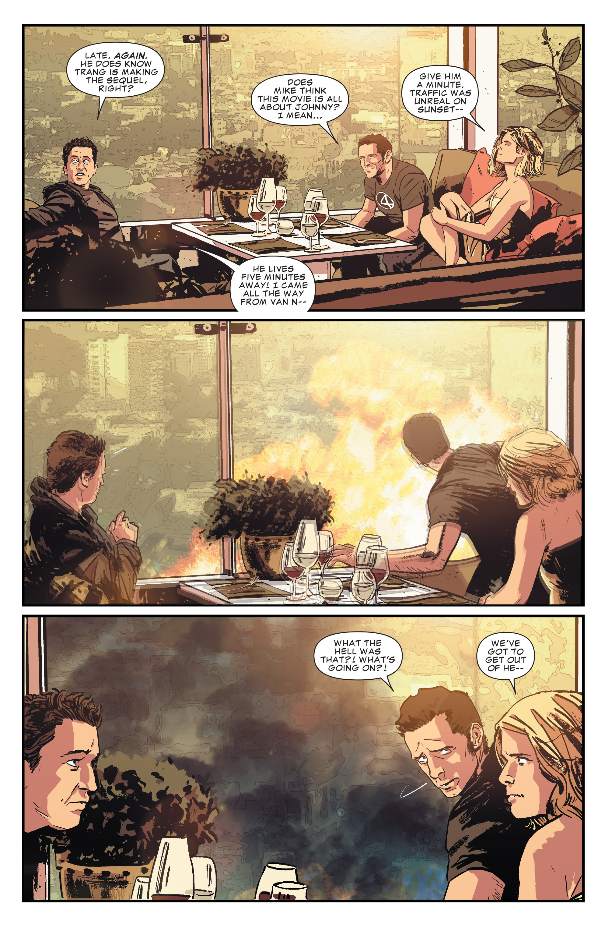 Scans Daily The Cast Of New Fantastic Four Movie Guest Johnny Five Tumblr Starred In A Comic