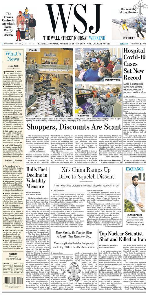 The Wall Street Journal - Vol. 276 No. 127 [28-29 Nov 2020]