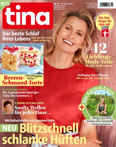 Cover: Tina Frauenmagazin No 27 vom 30  Juni 2021