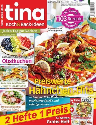 Cover: Tina Koch und Back-Ideen Magazin No 08 August 2021