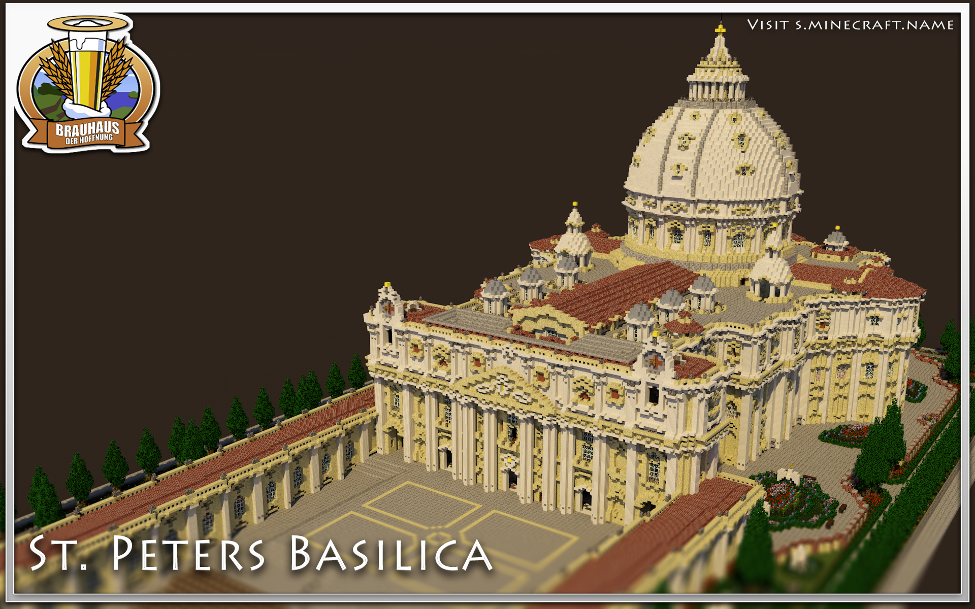 LVL 60 SPECIAL   Beautiful Detailed St. Peters Basilica   World-Download   Fixed Pictures! Minecraft Map