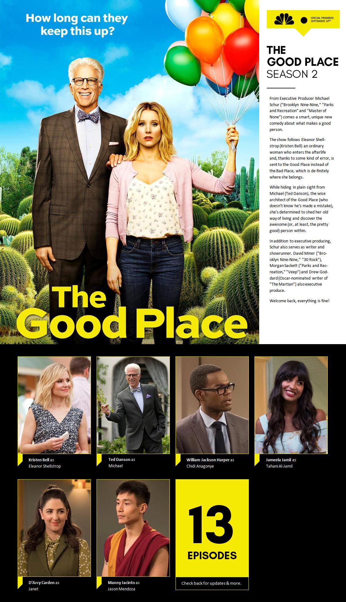 The Good Place S2  OT  Well, Fork Me - Thursdays 8:30/7:30c