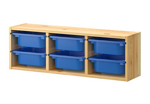 ikea 2 x box aufbewahrung kasten f r regal trofast im set 30x20x10 cm blau neu ebay. Black Bedroom Furniture Sets. Home Design Ideas