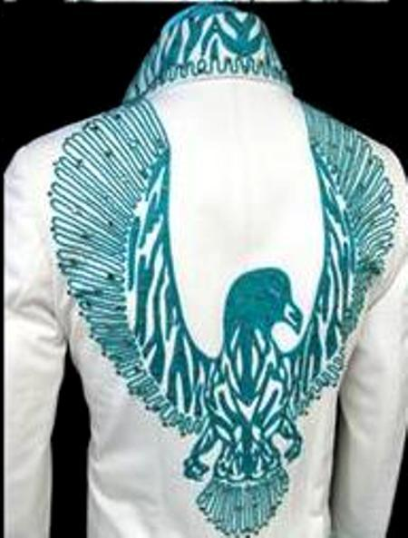 13 - Turquoise Phoenix Jumpsuit - Rex Martin's ELVIS Moments in Time