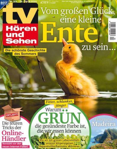 Cover: Tv Hören und Sehen Magazin No 24 vom 11  Juni 2021
