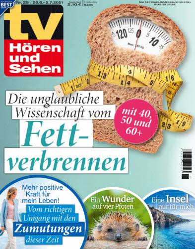 Cover: Tv Hören und Sehen Magazin No 25 vom 26  Juni 2021