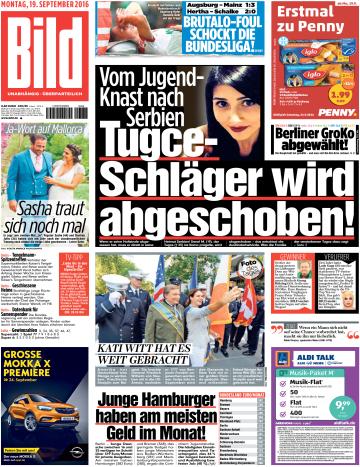 Bild Zeitung vom 19 September 2016