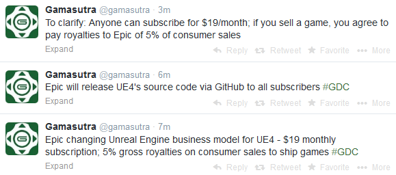 Unreal Engine 4 license costs (w/ source code): $19 monthly