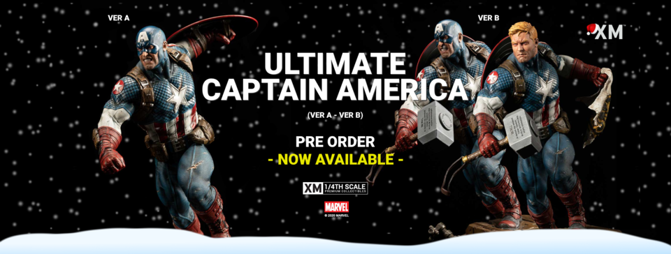 Premium Collectibles : Captain America Ultimate 1/4 Statue Ultcapbannerponewax8ji4