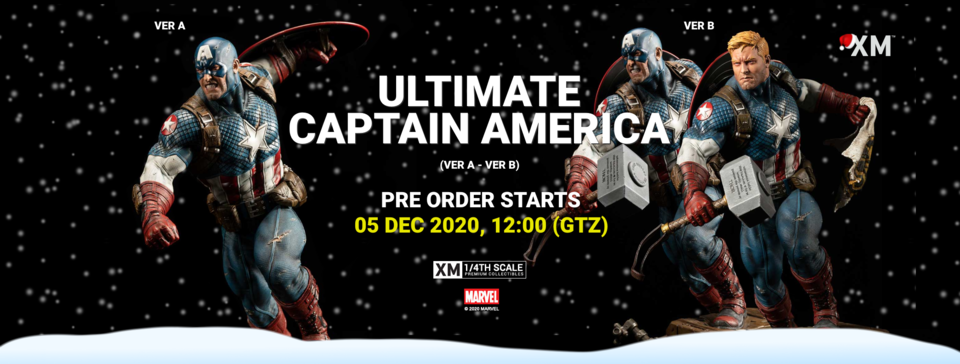 Premium Collectibles : Captain America Ultimate 1/4 Statue Ultcapbannerponewrrkaj