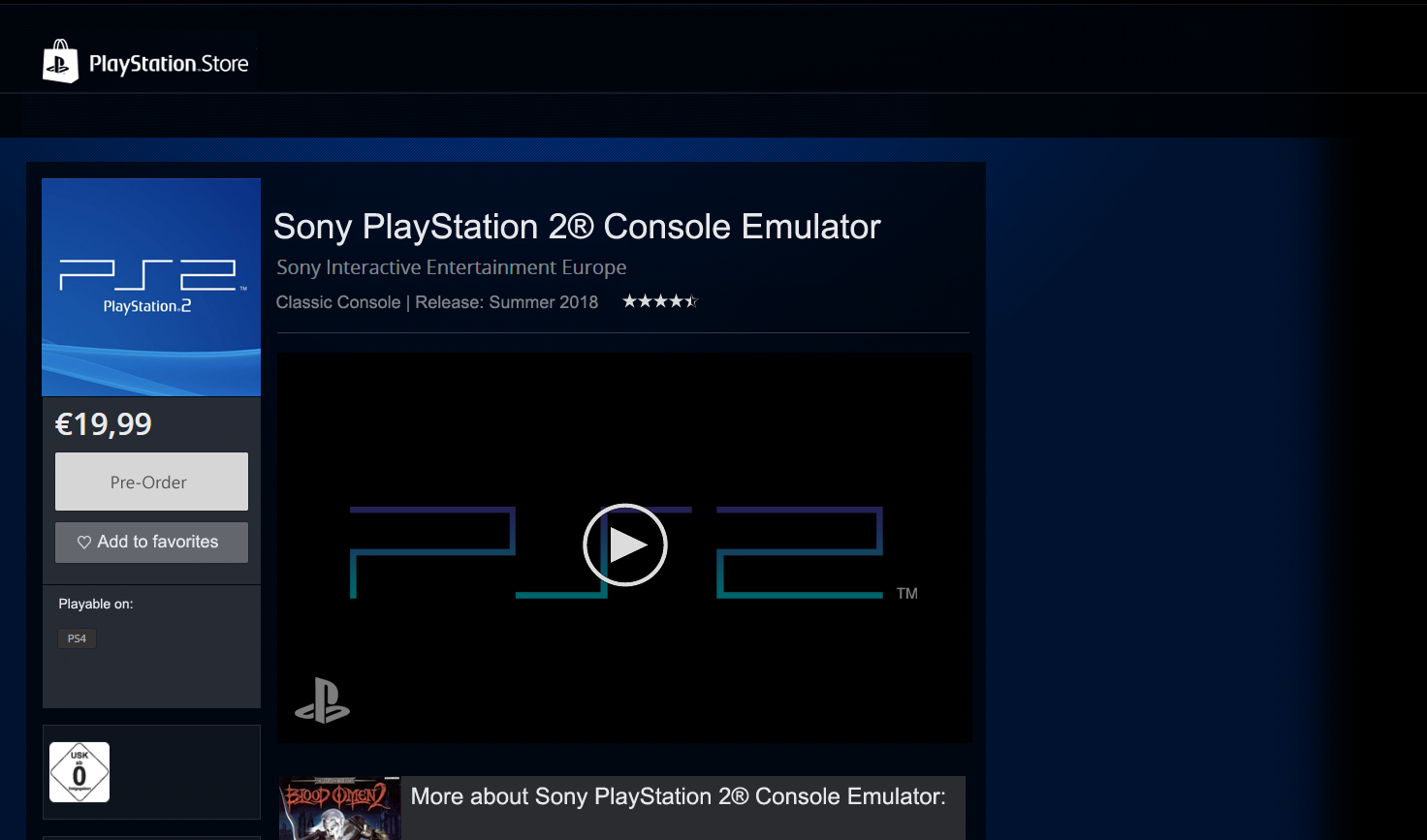 Sony - this is how you do PS2 emulation on PS4 properly | NeoGAF