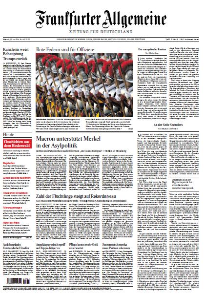 Frankfurter Allgemeine 20 Juni 2018