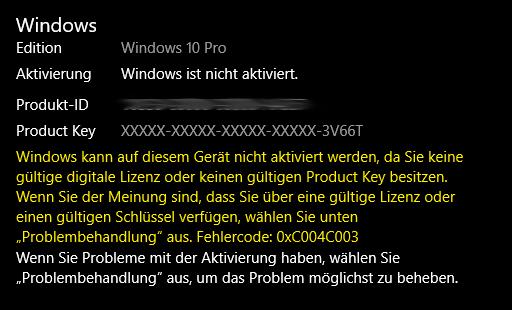 Windows nicht mehr aktiviert
