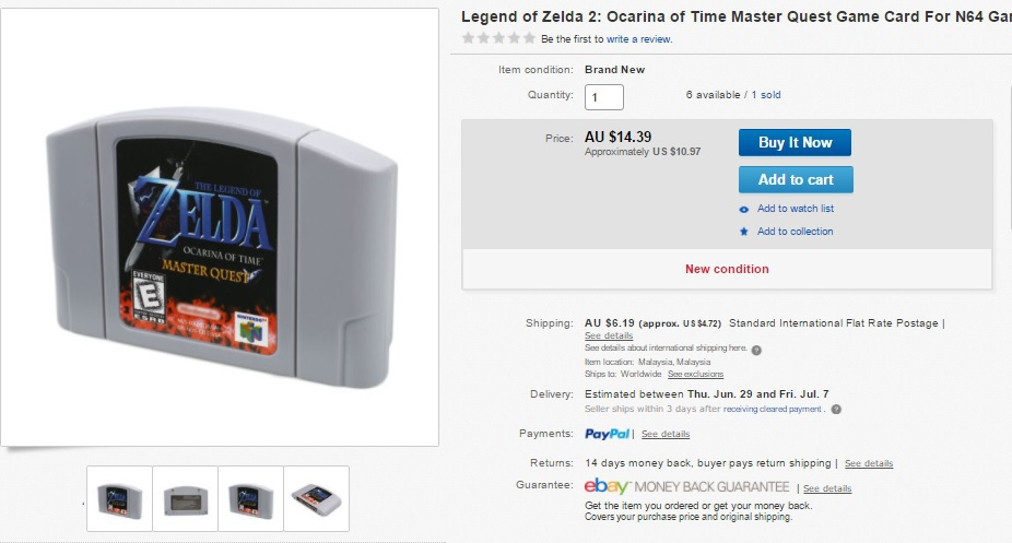 GameCube Ocarina of Time Master Quest version flashed to a real