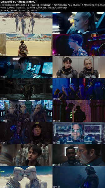 Valerian and the Cith of a Thousand Planets (2017) 1080p BluRay AC-3 TrueHD7 1 Atmos AVC-PiR8