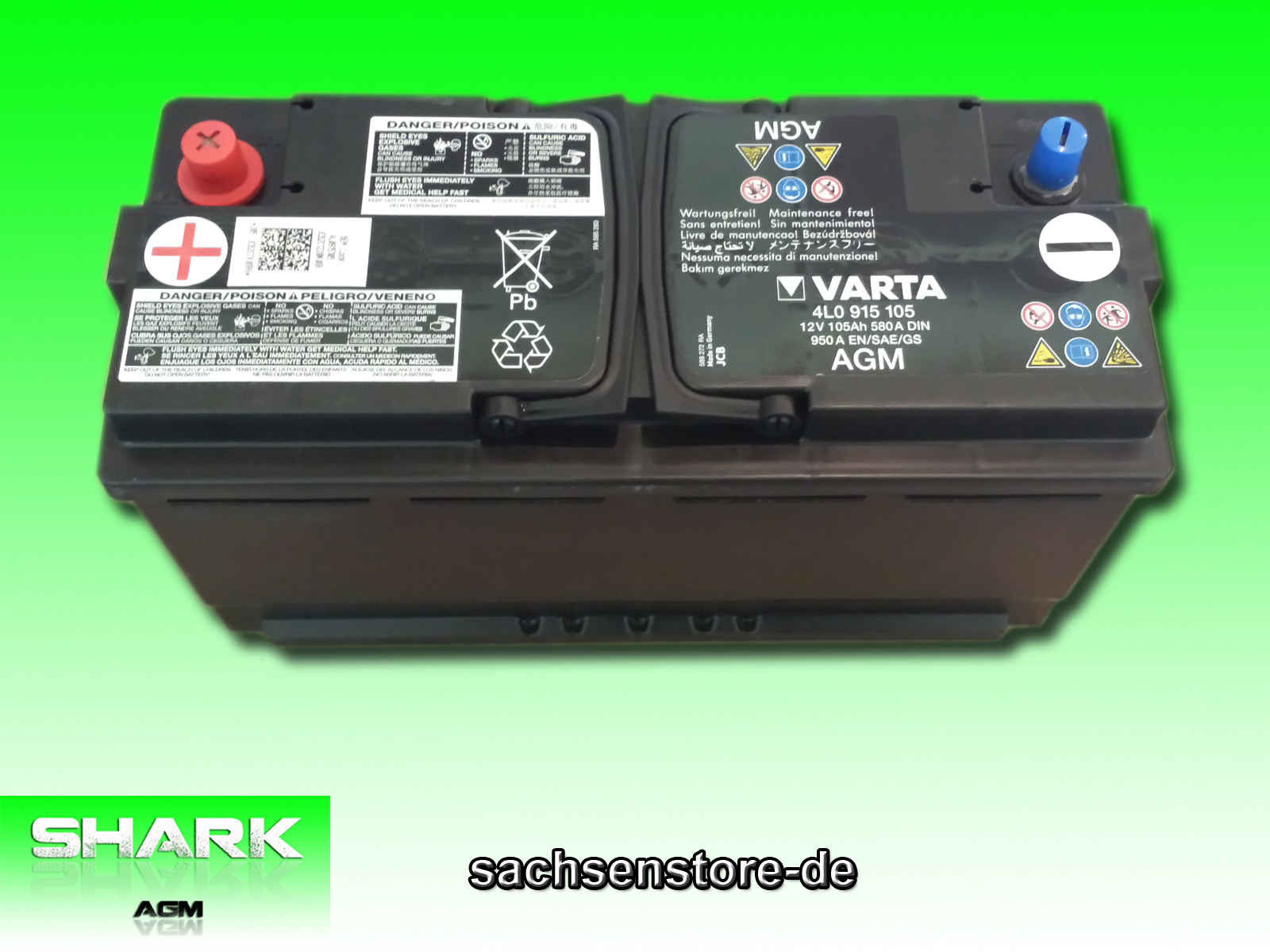agm bater a nuevo shark 80 ah 12v ebay. Black Bedroom Furniture Sets. Home Design Ideas