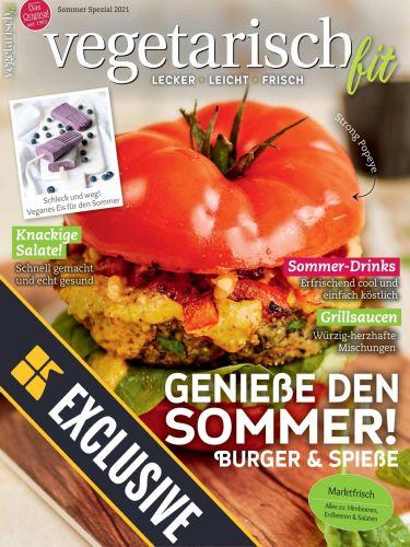 Cover: Vegetarisch Fit Magazin Spezial Sommer 2021