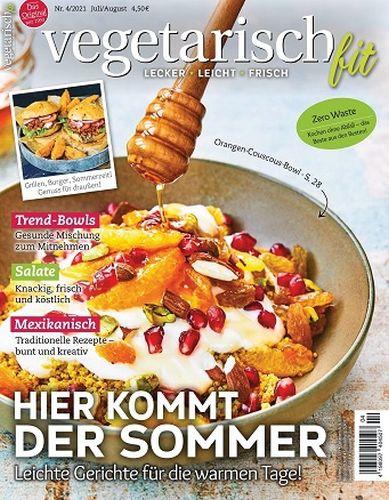 Cover: Vegetarisch Fit Magazin No 04 Juli-August 2021