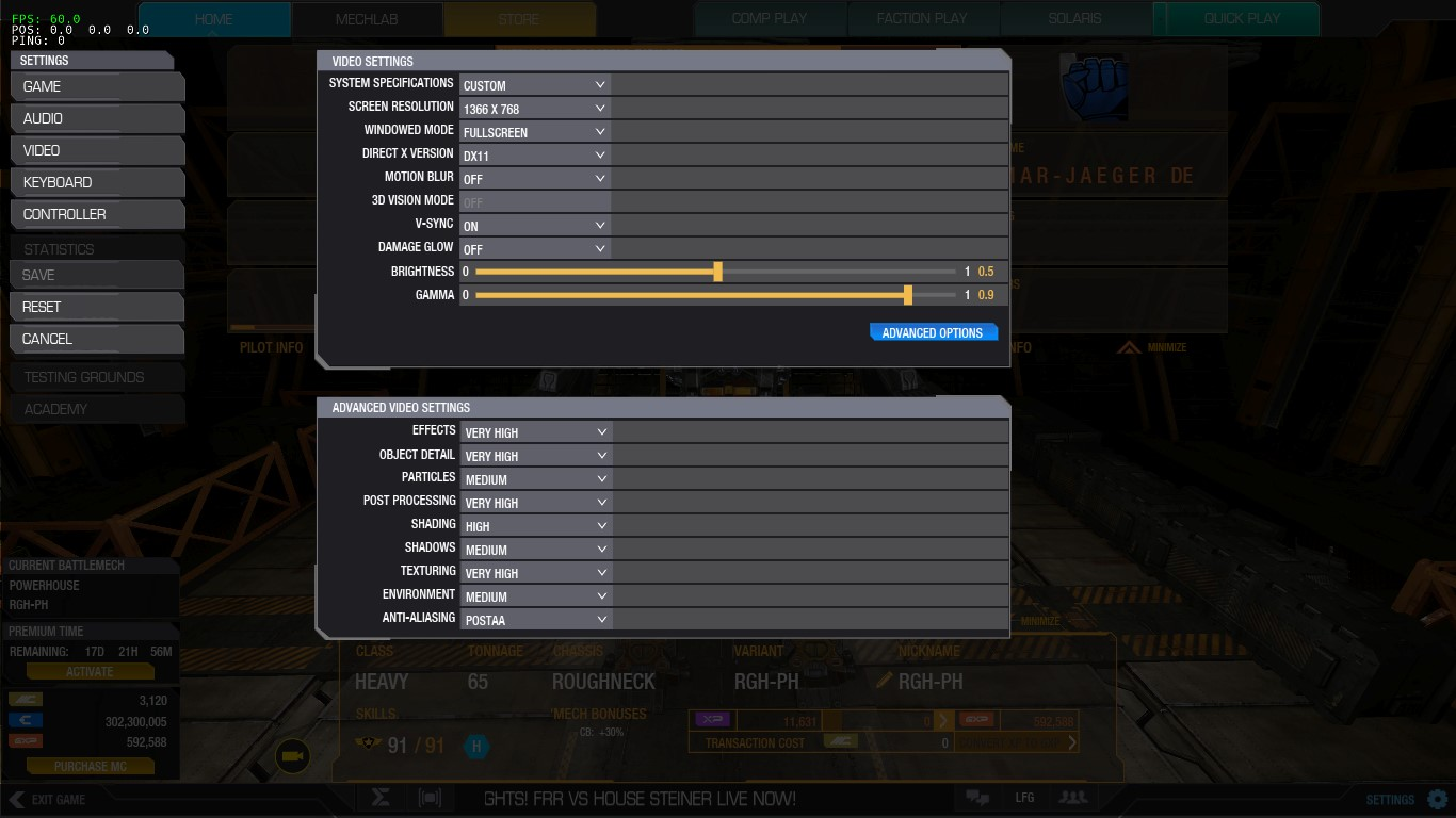 MWO: Forums - High End Pc Low Fps