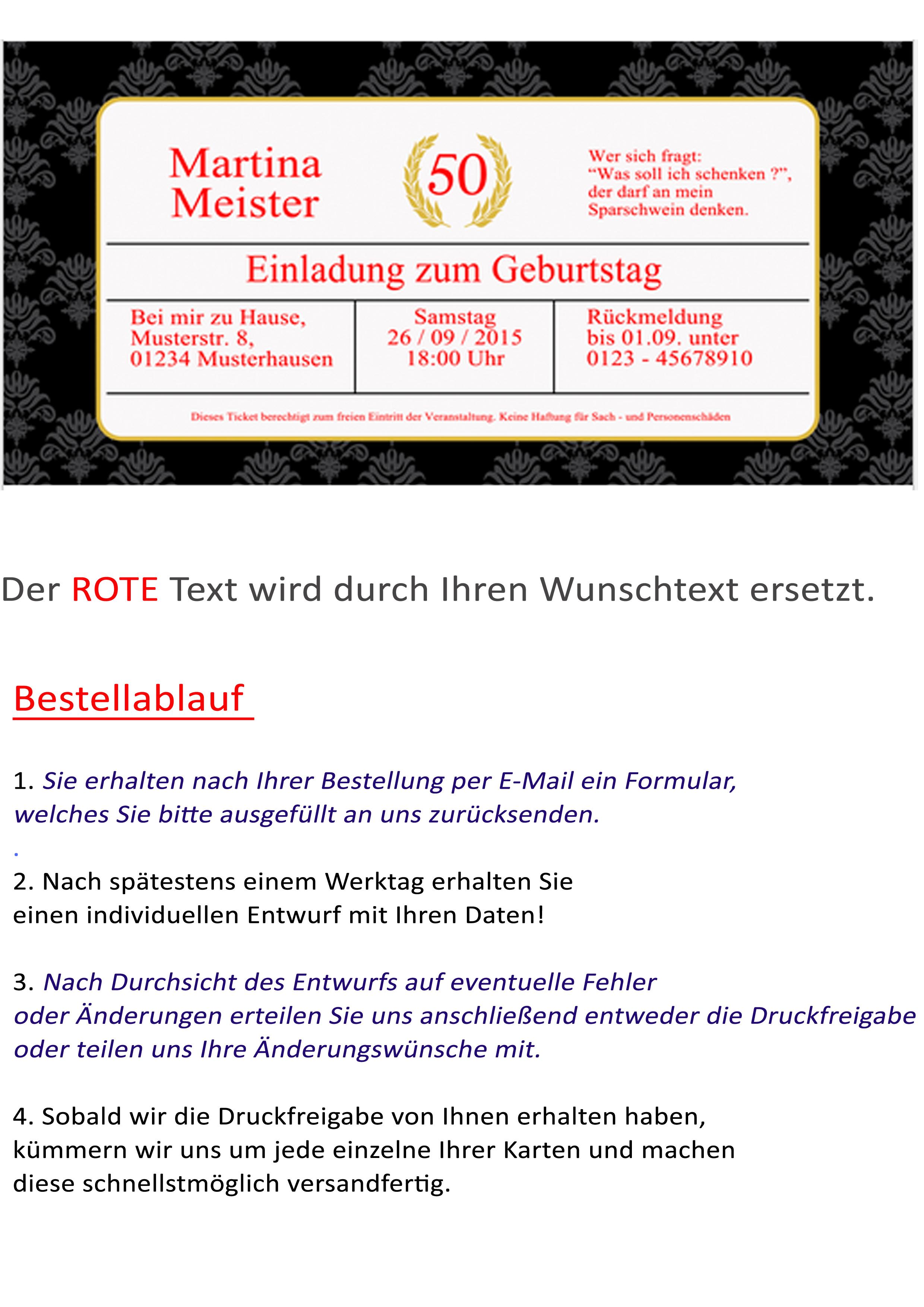 Einladungskarte VIP   Ticket Im Edlen Design   Mit Umschlägen