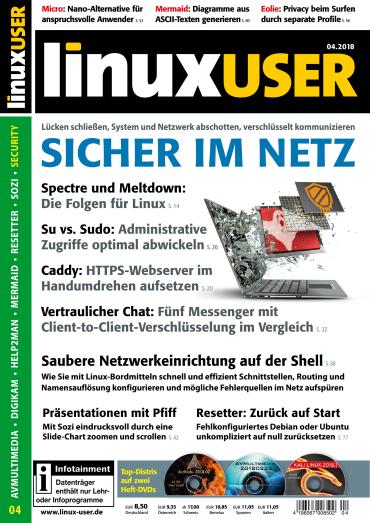 Linux User Magazin April No 04 2018