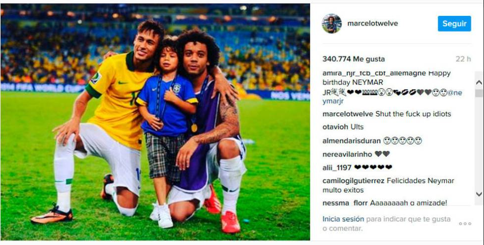 přání k 20 tým narozeninám Primera Division   Zkritizovali Marcela za přání Neymarovi. Ten je  přání k 20 tým narozeninám
