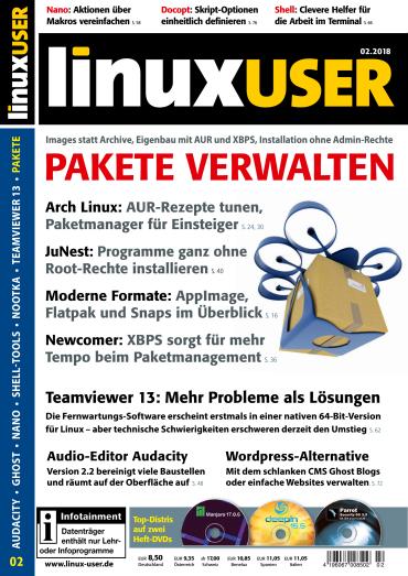 : LinuxUser Magazin Februar No 02 2018