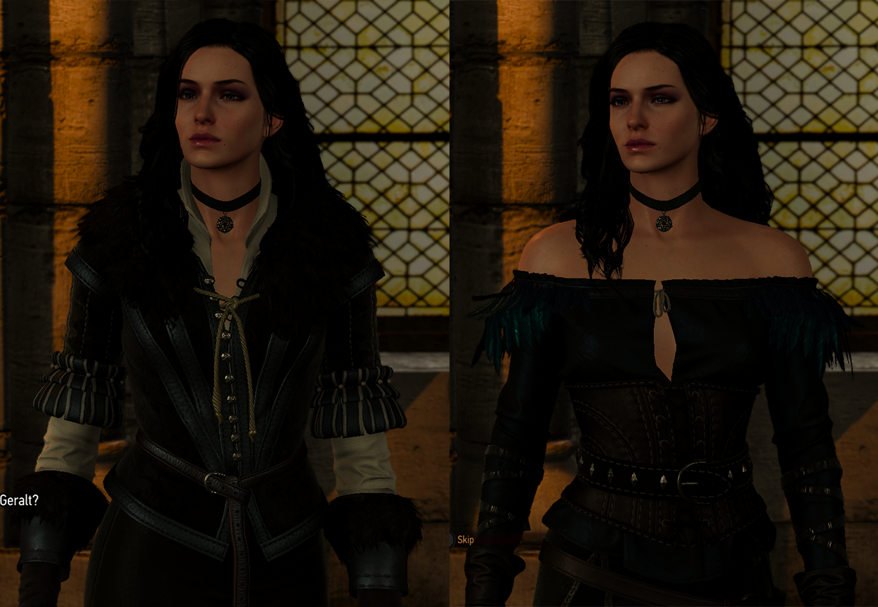 What Is The Original Yennifer Look Vs The Downloadable Alternative Look For Yennifer Witcher