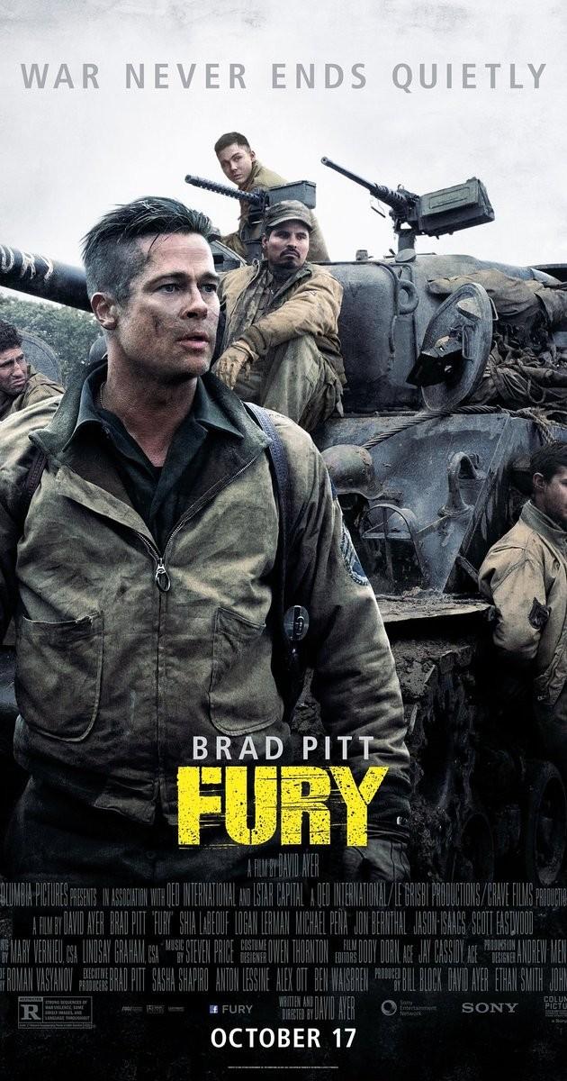Fury 2014 720p BluRay (Türkçe Altyazı)