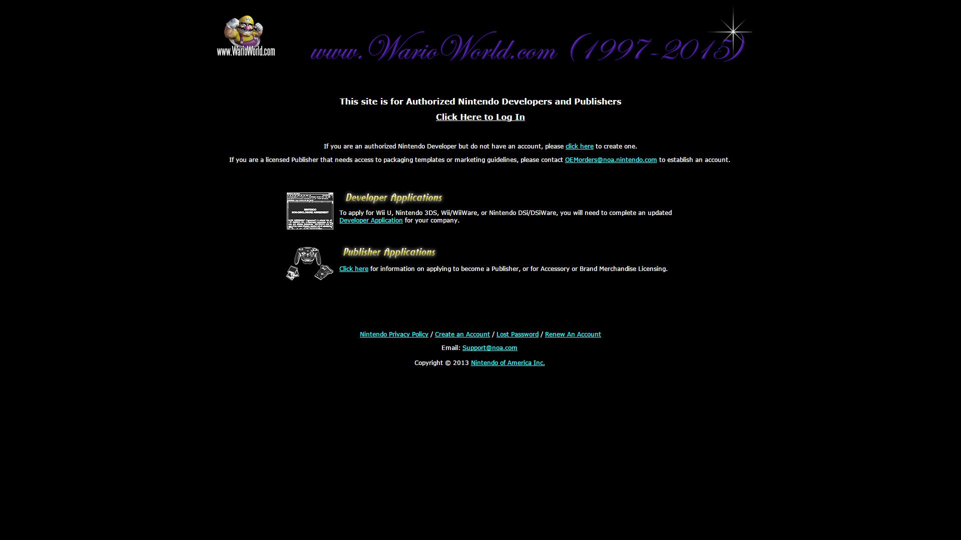 Warioworld Now Taken Offline