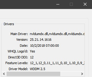 Download: NVIDIA GeForce 416 16 WHQL driver for Windows 10 October