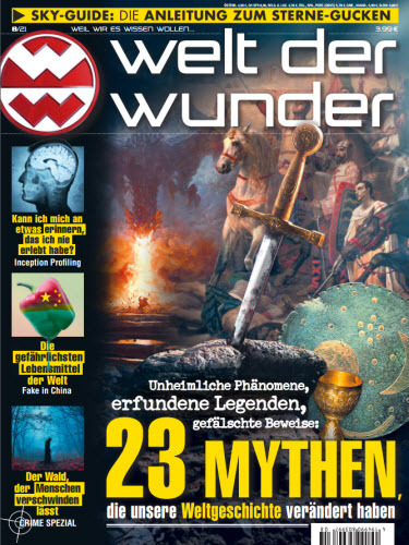Cover: Welt der Wunder Magazin No 08 2021