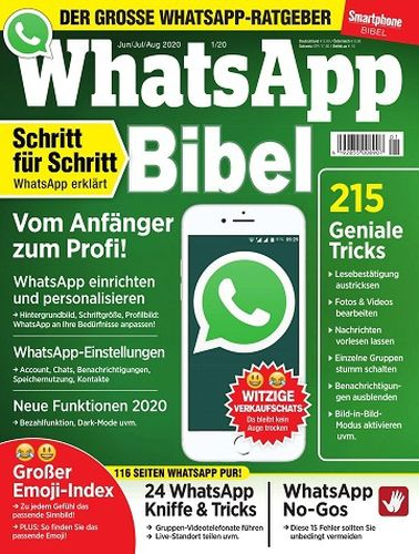 Cover: WhatsApp Magazin Smartphone Bibel Juni-August 2020