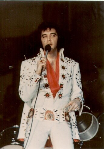05 White Pinwheel Jumpsuit Rex Martin S Elvis Moments