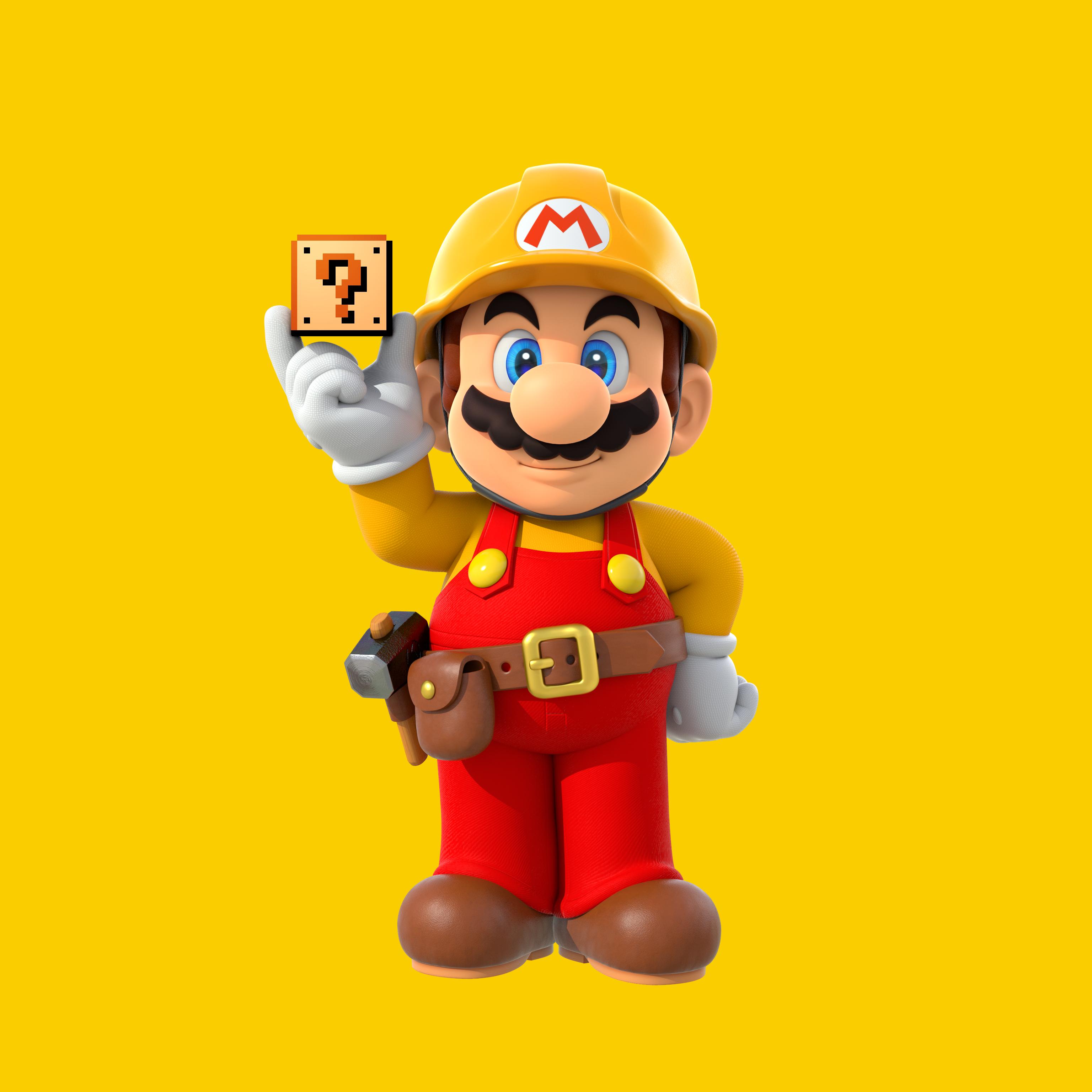 Builder Mario Minecraft Skin
