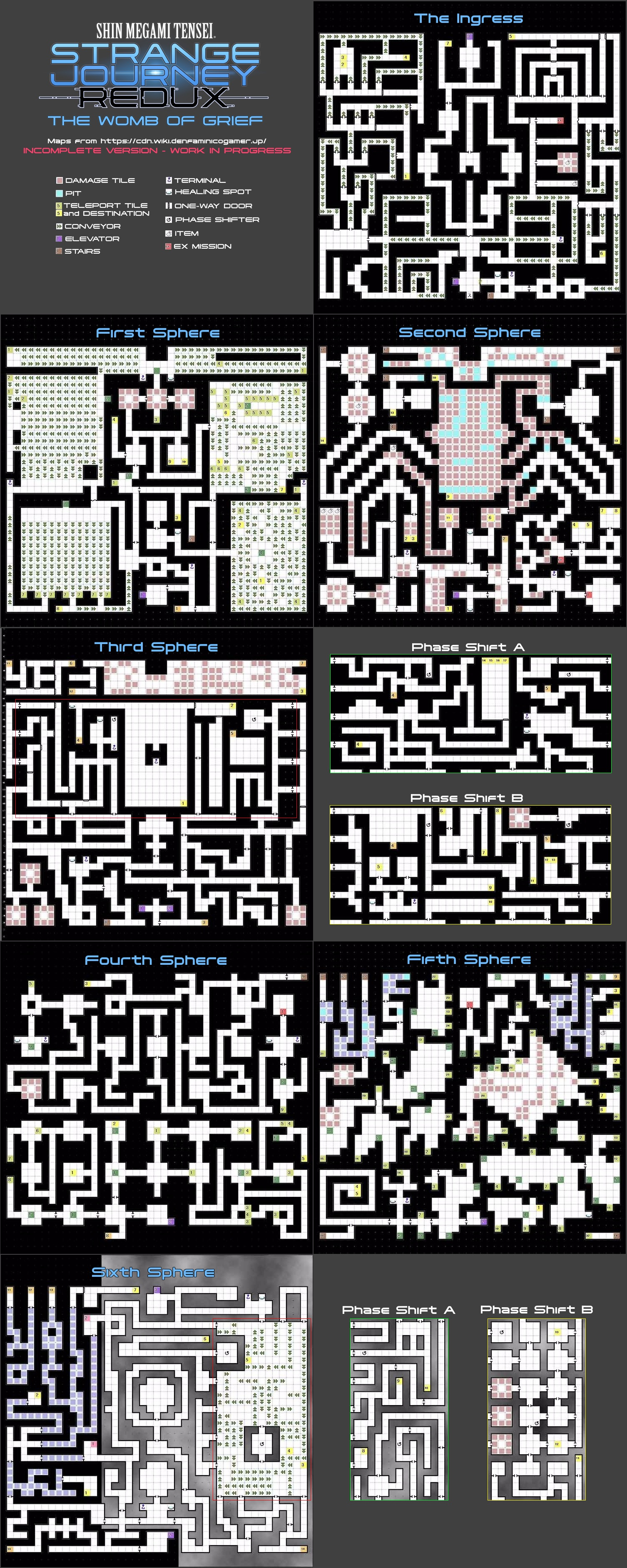 Found some better quality Womb of Grief maps - Shin Megami
