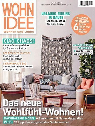 Cover: Wohnidee Magazin für Wohnen und Leben No 07 2021