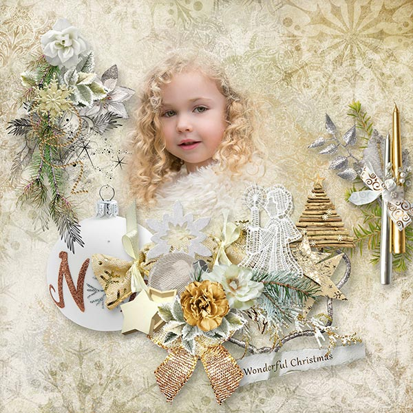 Christmas in gold (19.12 toutes les boutiques) Wonderfulchristmasspeup