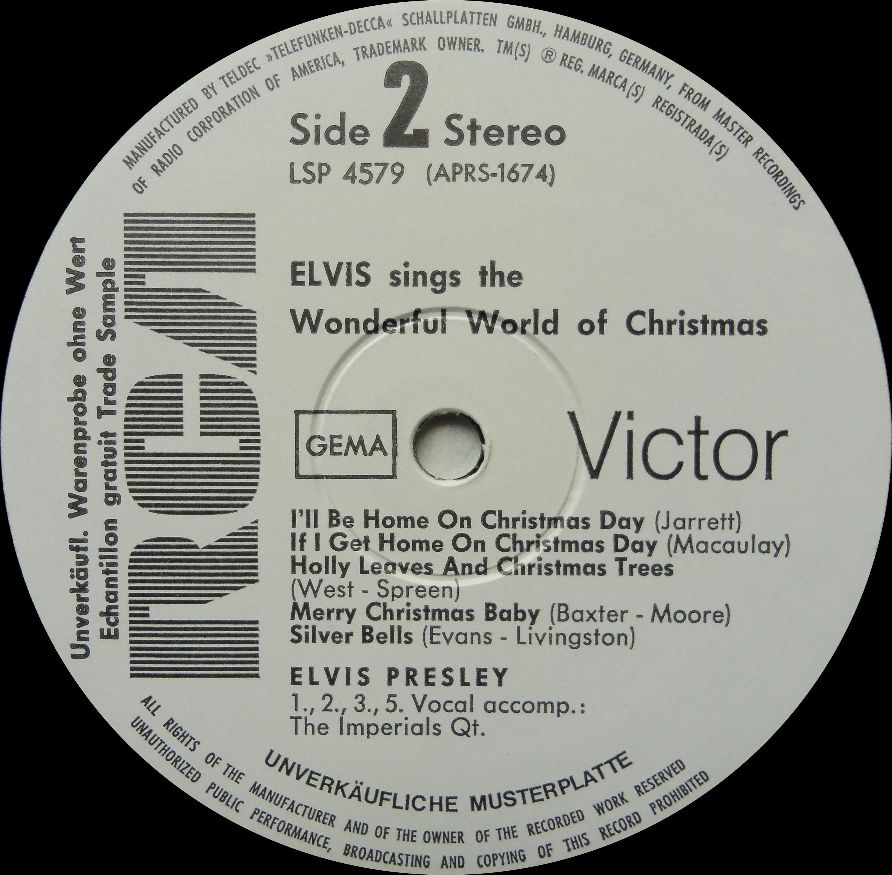 ELVIS SINGS THE WONDERFUL WORLD OF CHRISTMAS Wonderfulworldofchrispojvs
