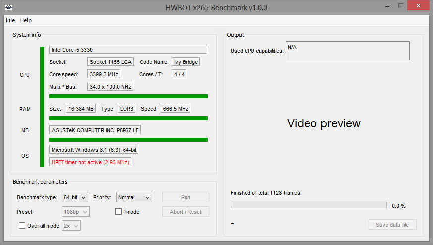 New Benchmark Coming Soon: HWBOT x265 Benchmark (encoding in 1080P