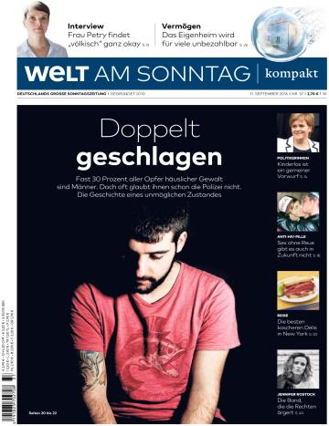 : Welt am Sonntag Kompakt - vom 11 September 2016