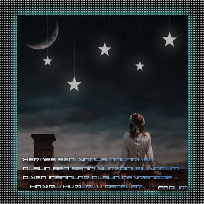 Yüregini Biliyorum Iyı Geceler Grafik E-Kart