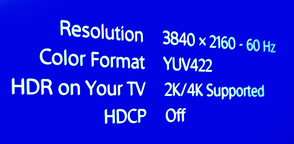 PS4 PRO: for best IQ (Native 4k + HDR + 60 HZ + 4:4:4) 2160p-YUV420