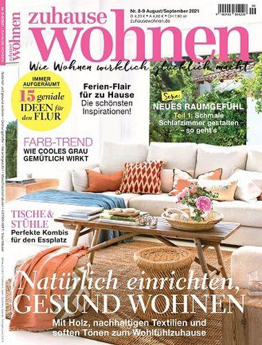 Cover: Zuhause Wohnen Magazin No 08 August 2021