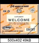 24 HEURES DU MANS YEAR BY YEAR PART FOUR 1990-1999 1990-lm-0-tickets-00381kjp