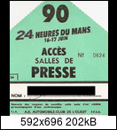 24 HEURES DU MANS YEAR BY YEAR PART FOUR 1990-1999 1990-lm-0-tickets-008bukej