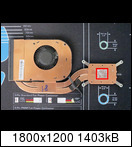 """Remove the """"old"""" factory-used ordinary thermal compound on the processor cooler. Clean the surface of the processor cooler with alcohol. Spread the """"new"""" metallic thermal compound on the processor cooler in the marked area (red square)"""